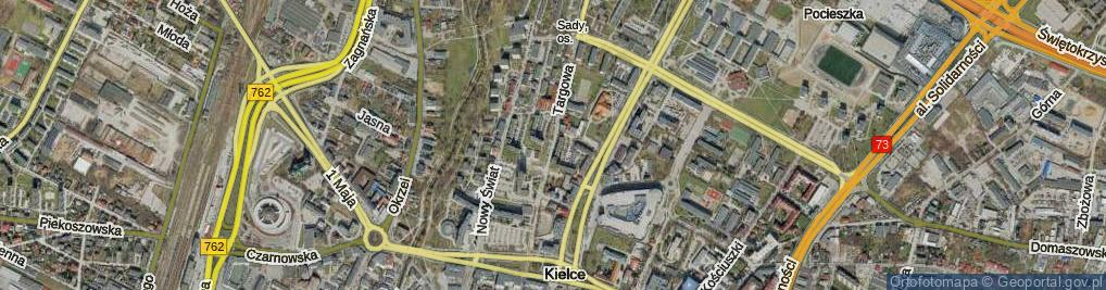 Zdjęcie satelitarne Targowa ul.
