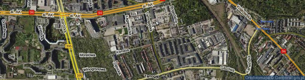 Zdjęcie satelitarne Tarnogajska ul.