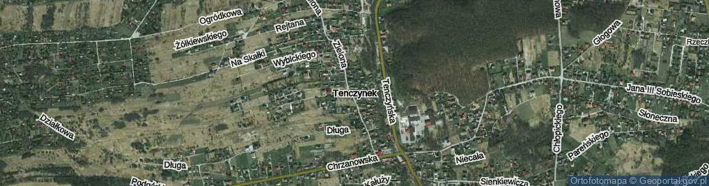 Zdjęcie satelitarne Tenczynek