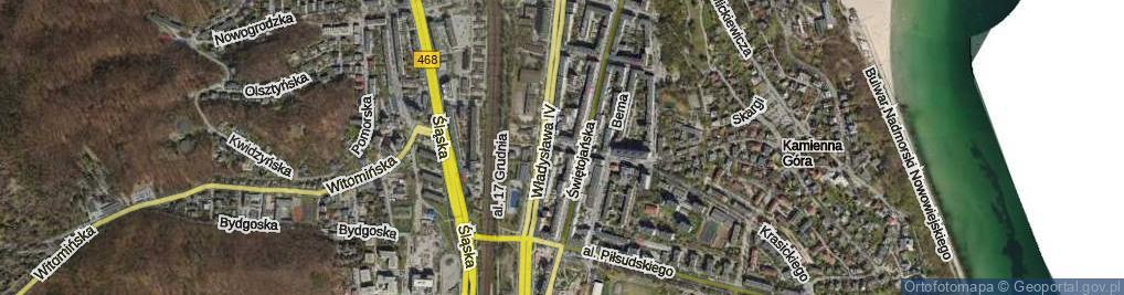 Zdjęcie satelitarne Traugutta Romualda
