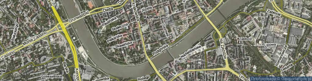 Zdjęcie satelitarne Trynitarska ul.