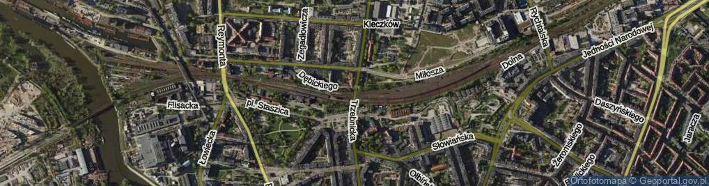 Zdjęcie satelitarne Trzebnicka