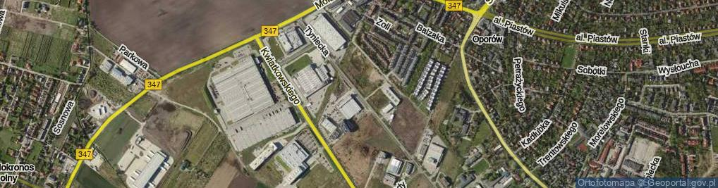 Zdjęcie satelitarne Tyniecka