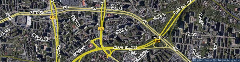 Zdjęcie satelitarne Ujejskiego Kornela