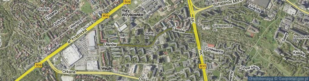 Zdjęcie satelitarne Ułanów