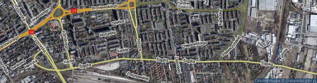 Zdjęcie satelitarne Umińskiego Władysława