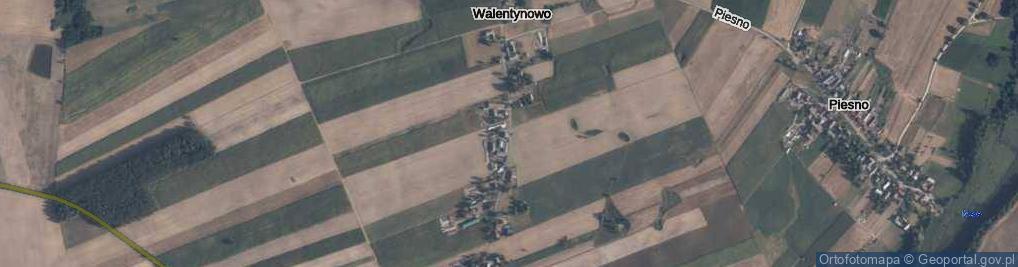 Zdjęcie satelitarne Walentynowo