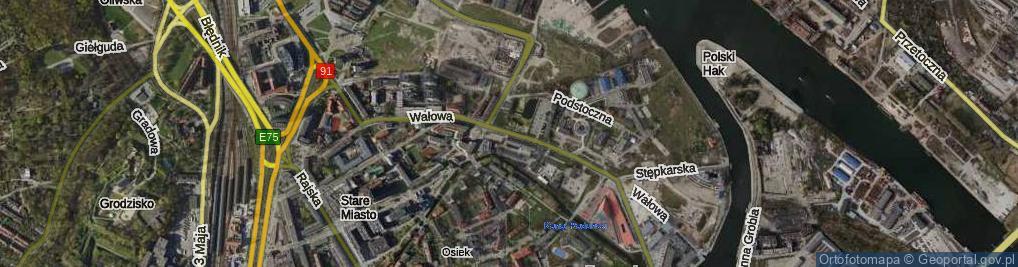 Zdjęcie satelitarne Wałowa