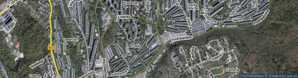 Zdjęcie satelitarne Warmińska