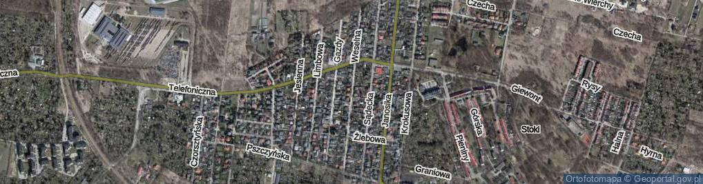 Zdjęcie satelitarne Weselna ul.