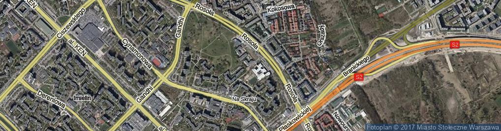 Zdjęcie satelitarne Wesoła