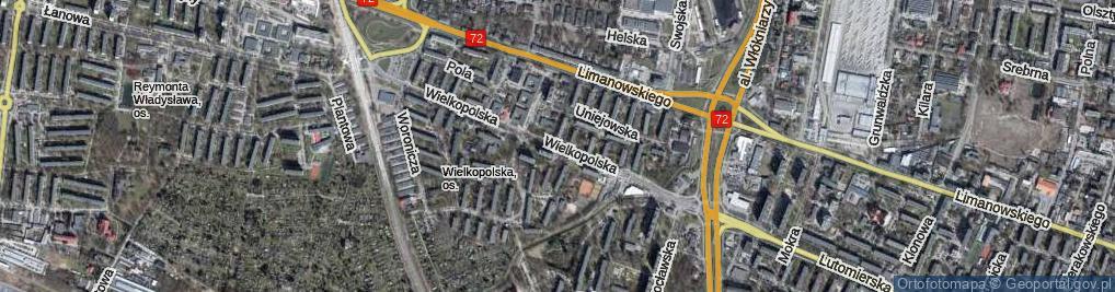Zdjęcie satelitarne Wielkopolska ul.