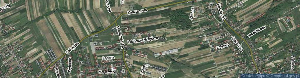 Zdjęcie satelitarne Wichrowe Wzgórza