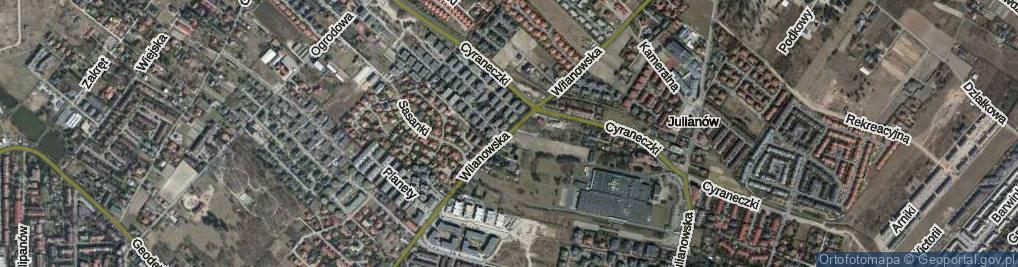 Zdjęcie satelitarne Wilanowska