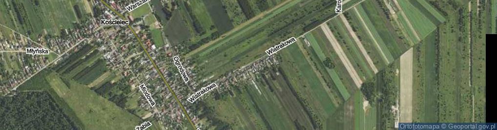 Zdjęcie satelitarne Wiatrakowa ul.