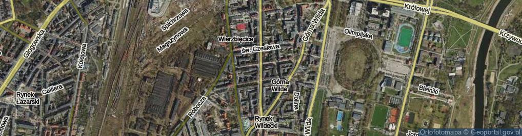 Zdjęcie satelitarne Wierzbięcice ul.