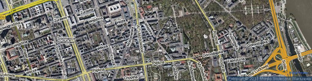 Zdjęcie satelitarne Wiejska