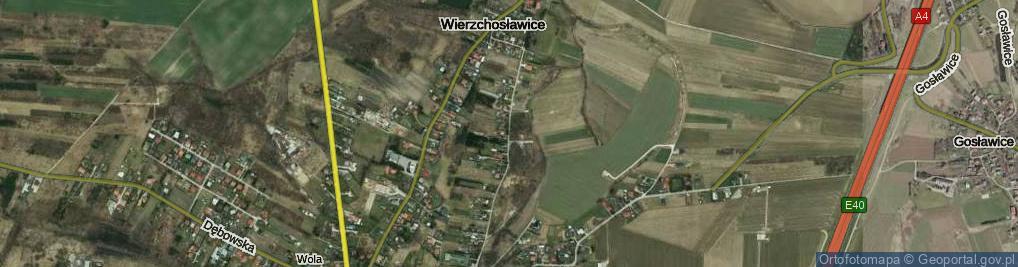 Zdjęcie satelitarne Wierzchosławice