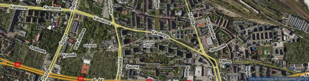 Zdjęcie satelitarne Wieczysta