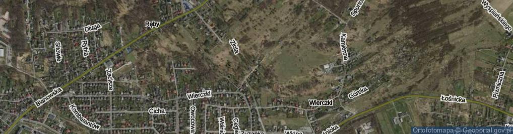 Zdjęcie satelitarne Wierczki-Północ ul.