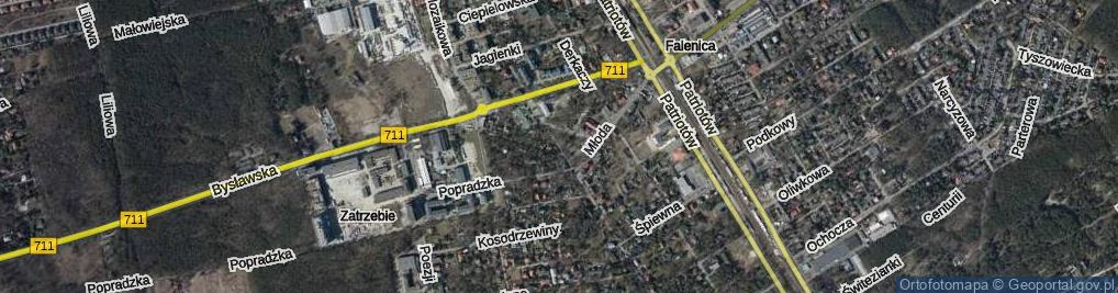 Zdjęcie satelitarne Włókiennicza
