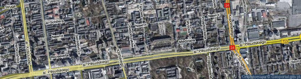 Zdjęcie satelitarne Wodna ul.