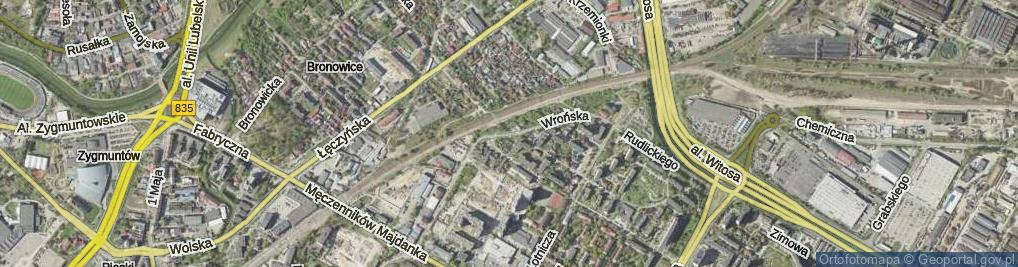 Zdjęcie satelitarne Wrońska