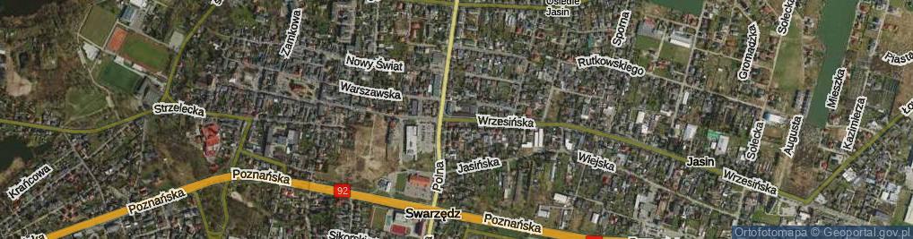 Zdjęcie satelitarne Wrzesińska