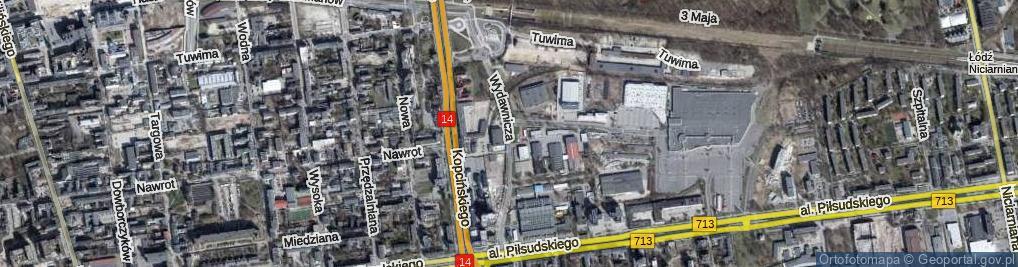 Zdjęcie satelitarne Wydawnicza ul.