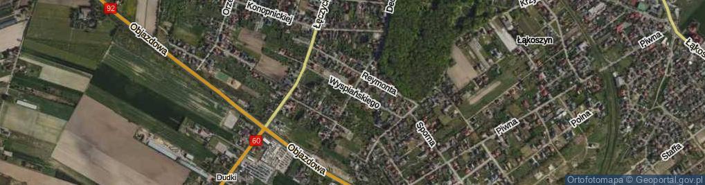 Zdjęcie satelitarne Wyspiańskiego Stanisława