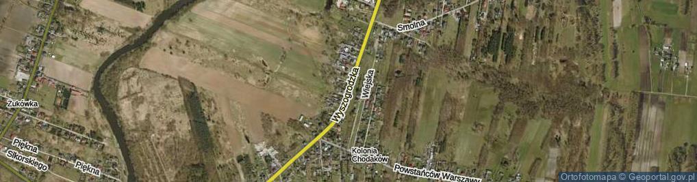 Zdjęcie satelitarne Wyszogrodzka