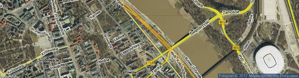 Zdjęcie satelitarne Wybrzeże Kościuszkowskie