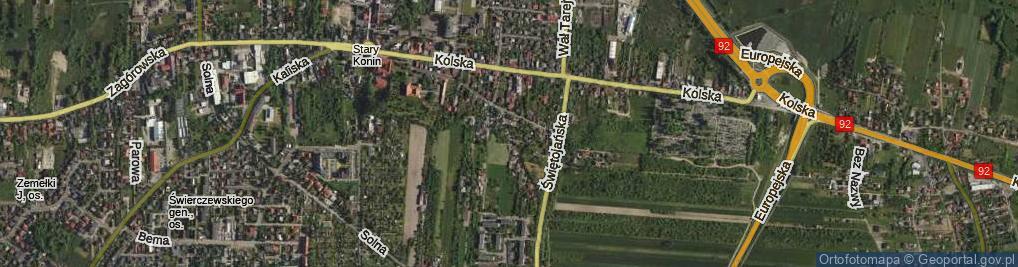 Zdjęcie satelitarne Wzgórze ul.