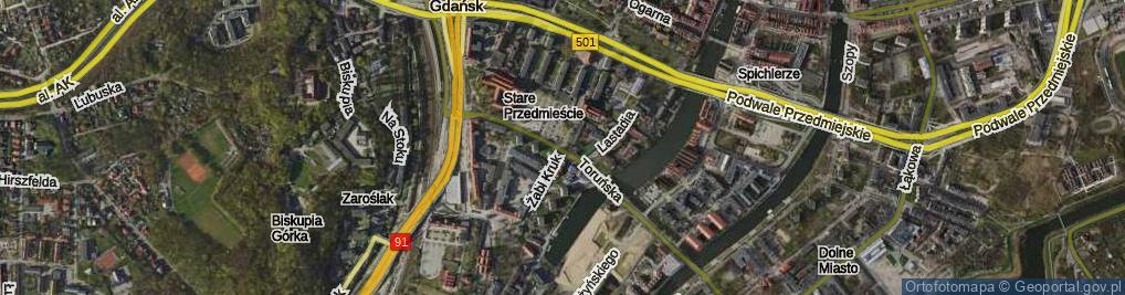 Zdjęcie satelitarne Żabi Kruk ul.