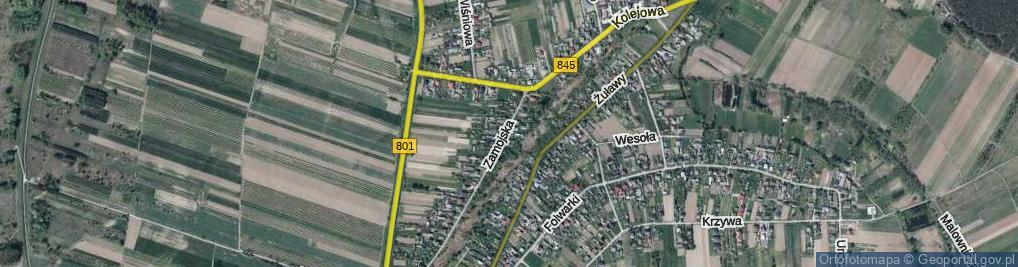 Zdjęcie satelitarne Zamojska ul.