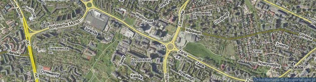 Zdjęcie satelitarne Zana Tomasza