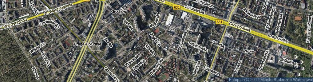 Zdjęcie satelitarne Zagójska ul.