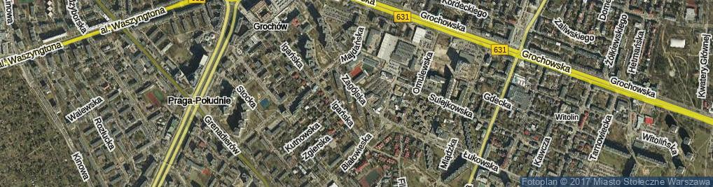 Zdjęcie satelitarne Zagójska