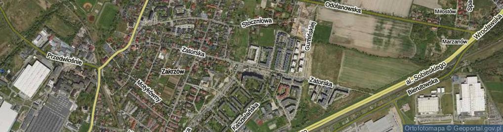 Zdjęcie satelitarne Zatorska ul.