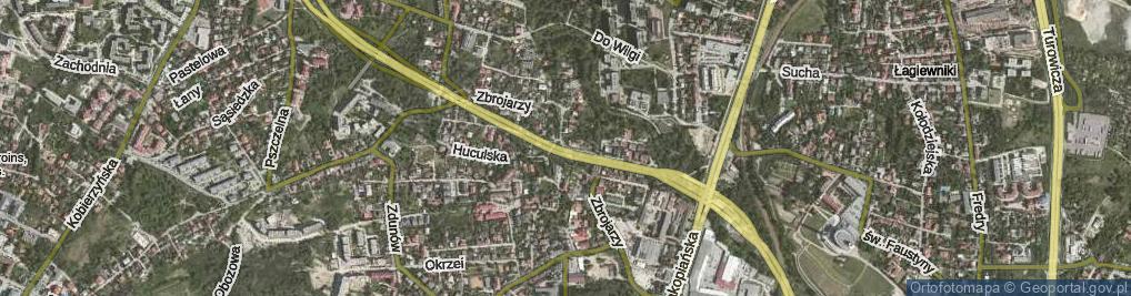 Zdjęcie satelitarne Zbrojarzy ul.