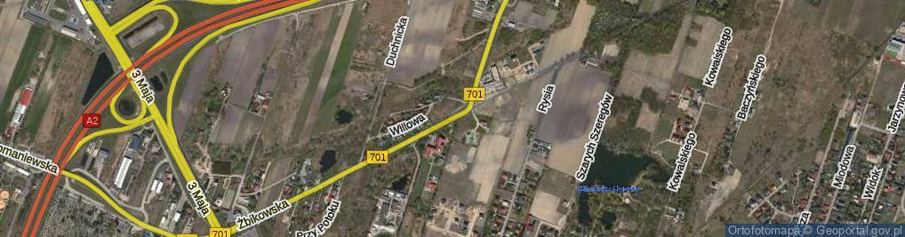 Zdjęcie satelitarne Żbikowska