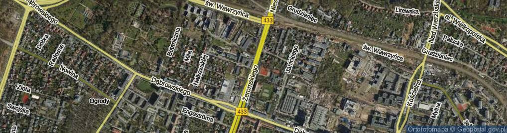 Zdjęcie satelitarne Żeromskiego Stefana