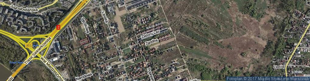Zdjęcie satelitarne Zgodna