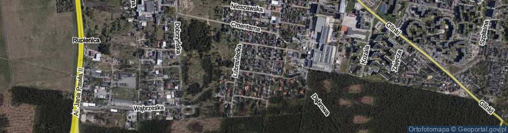 Zdjęcie satelitarne Zielonogórska