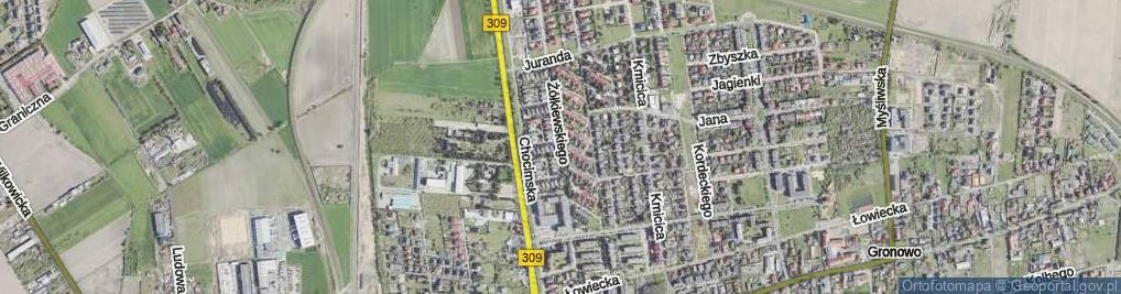 Zdjęcie satelitarne Żółkiewskiego Stanisława