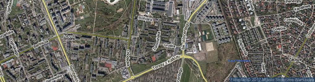 Zdjęcie satelitarne Żuromińska