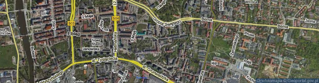 Zdjęcie satelitarne Związku Jaszczurczego ul.