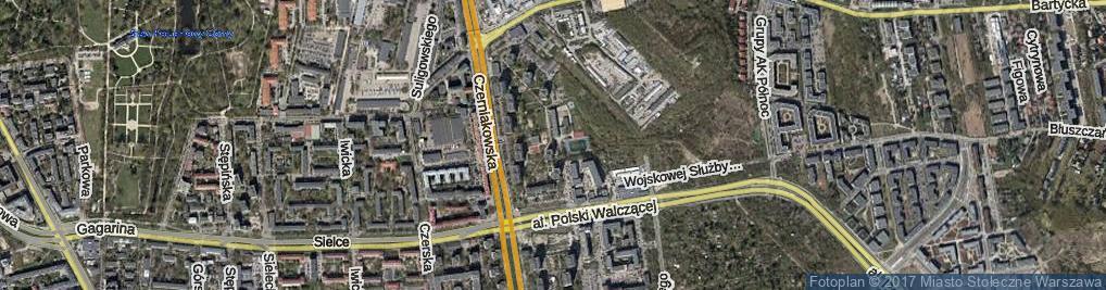 Zdjęcie satelitarne Zwierzyniecka
