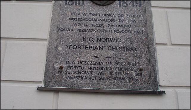 Ratusz Sulechów - tablica, Sulechów, Ratuszowy, pl. 30