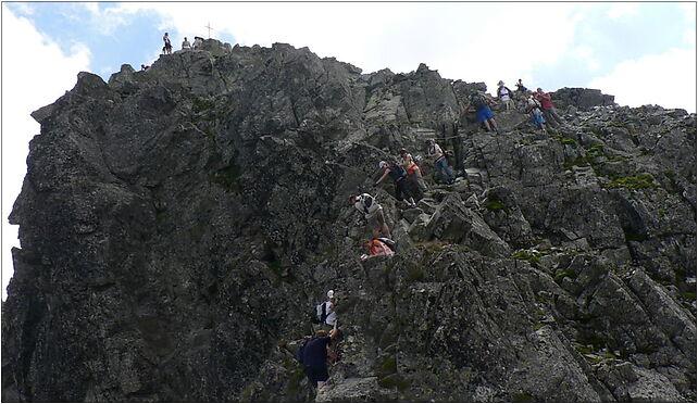Rysy, widok spod szczytu,  Morskie Oko - Zdjęcia